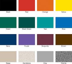 16 Color Chart Park Equipment Playground Equipment Park Benches Tables