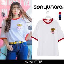 Sonyunaraソニョナラフライドポテトtシャツ 韓国 韓国ファッション