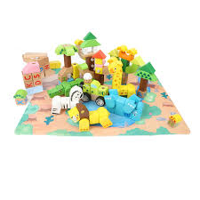 Forest Animal Building Blocks <b>120</b> Pieces - <b>Greenbean</b> Learning ...