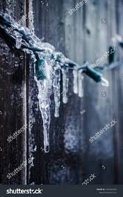 Ice Icicle Lights Frozen Ice On String Lights Icicles Stock Image Download Now