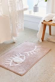 white bathroom decor. Winky Eye Bath Mat White Bathroom Decor