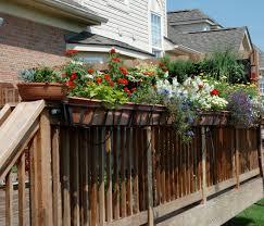 home dek decor railing planter home decor