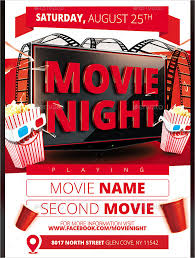 Free Movie Night Template Asafonggecco Movie Flyer Template Word