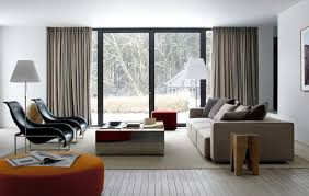 Two Story Living Room Curtains Living Room Two Story Modern House With Basement Plan Design