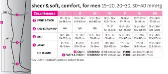 Mediven Size Chart Mediven For Men Knee High Accucare Canada