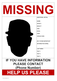 Make A Missing Poster Person Poster Template 3