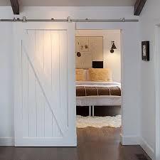 image of white sliding barn closet doors