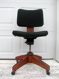 midcentury modern vintage furniture nest210 johnson vintage antique wooden oak bankers rolling desk chair
