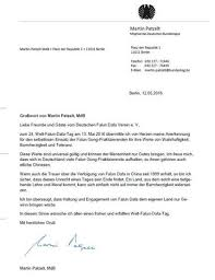 Letter Greetings Magnificent German Politicians Send Greetings For World Falun Dafa Day