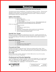 Format Of Job Resume Good Resume Format