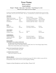 Acting Resume Template 2017 Resume Builder