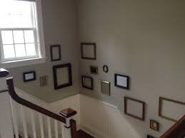 picture frames on staircase wall. Wall Frames Staircase - Gallery With Empty Picture On W