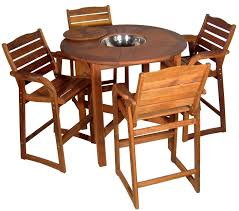 round bar table setting