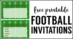 Free Football Invitation Templates Football Party Invitation Template Free Printable Paper