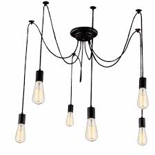 Us 3194 40 Offdiy Adjustable Light Rh Designer Loft American Country Industrial Warehouse Edison Vintage Spider Home Ceiling Lamps Chandelier In