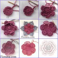Crochet Flower Pattern Best Crochet Flowers Fionitta Crochet