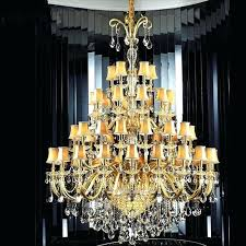 vintage large crystal hotel lobby french chandelier lighting lamp shades