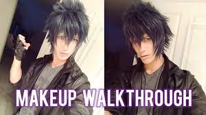 walkthrough noctis inspired cosplay makeup