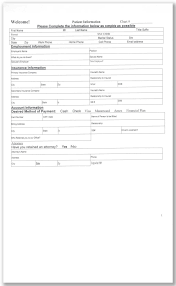 patient information form new patient printable form