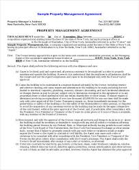 8 Sample Commercial Property Management Agreements Word Pdf