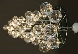image of contemporary crystal chandeliers