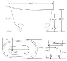 awesome soaking tub dimensions the marionette cast iron clawfoot tub 54 inches