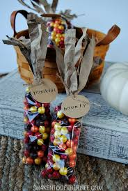 Make Indian Corn Thanksgiving favors with this step by step tutorial. Stamp  the tags with