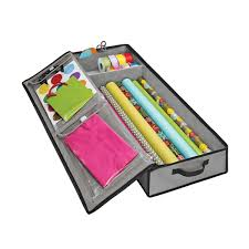 Grey Wrap U0026 Tote Organizer Gift Wrap Storage Container G61