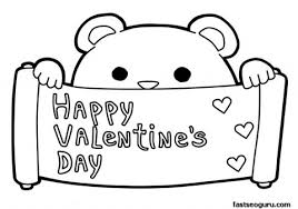 Small Picture Printable happy Valentines Day coloring pages februar 14