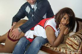 Black girl spanked tube