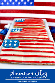 american flag frosted graham ers gather the kids our delicious ercream frosting and a