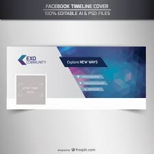 Free Facebook Covers Templates Editable Timeline Cover Template Vector Free Download