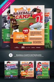 Baseball Brochure Template Creative Ready Made Sports Camp Flyer Templates Entheosweb