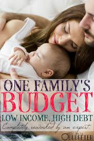One Familys Budget With Low Income And High Debt