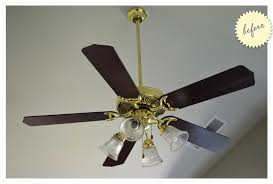 paint a ceiling fan before