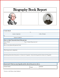 Book Report Poster Template Biography Book Report Template Photo Stcharleschill Unique