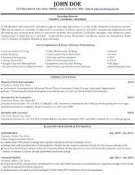 Resume Template Word 2018 Sample Investment Banking Format Click
