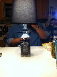 Jack Daniels Lamp Simple And Easy To Make Need Glass Bottle Glass