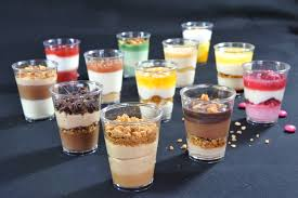 small glass dessert cups designs