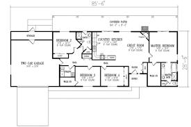 ranch style house plans. Ranch Style House Plan 4 Beds 2 00 Baths 1720 Sq Ft #1 350 Plans