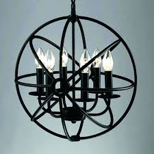 chandeliers large orb chandelier round cage modern industrial 6 light hangin