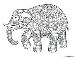 Printable Elephant Picture To Color Coloring Page Without And Print