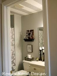 homey home design mini bathroom redo with striped ceiling love the striped ceiling