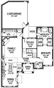 Narrow Lot European Design   Safe Room   TX   st Floor    Floor Plan