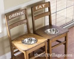 repurpose old furniture. 16. A Dining Center For Larger Dogs To Enjoy Repurpose Old Furniture