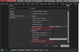 How To Enable Tick Replay Option In Ninjatrader 8 To Get