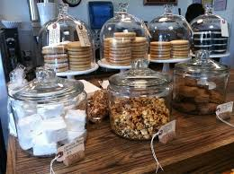 Coffee Shop Display Stands Crisp Bake Shop cookiemarshmallowgranola display business 3