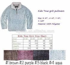 True Grit Size Chart 1 4 Zip Dingin Tip Tumpukan Dempul Pemuda True Grit Pullover Buy Pemuda True Grit Pullover Dempul Pemuda True Grit Pullover Product On Alibaba Com