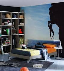 simple teen boy bedroom ideas. Simple Modern Teen Boys Bedroom Ideas With Large Wall Art Along Big Bookself Single Bed Wheel And Small White Lamp Above Stainlees Bedside Table Boy