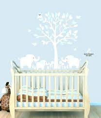 baby boy nursery wall decor decals elephant together with outstanding tree ideas
